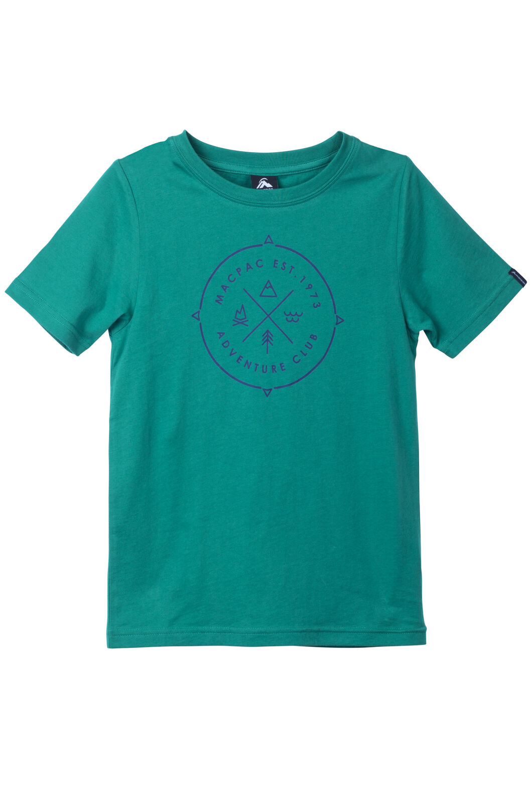 Adventure Organic Cotton Tee - Kids', Ultramarine, hi-res