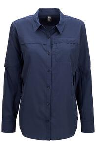 Macpac Ranger Long Sleeve Shirt — Women's, Navy Iris, hi-res