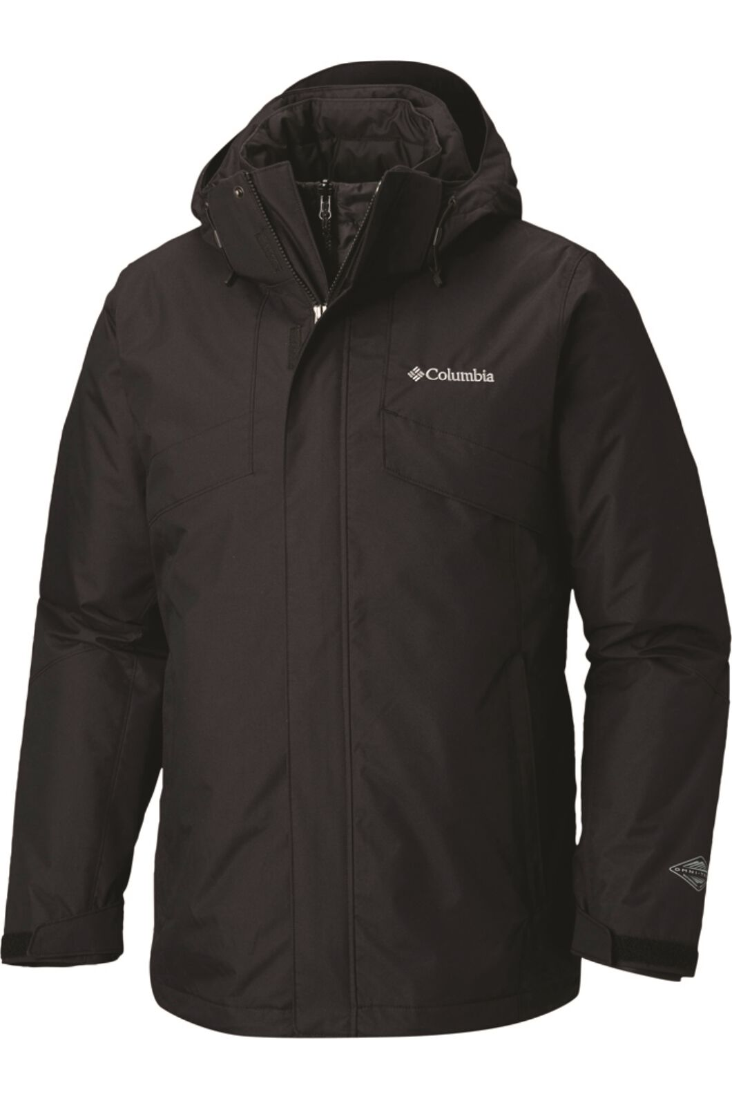Columbia Men's Bugaboo II Insulated Interchange Jacket, Black, hi-res