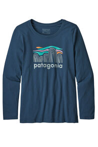 Patagonia Girls' L/S Graphic Organic T-Shirt, Blue, hi-res