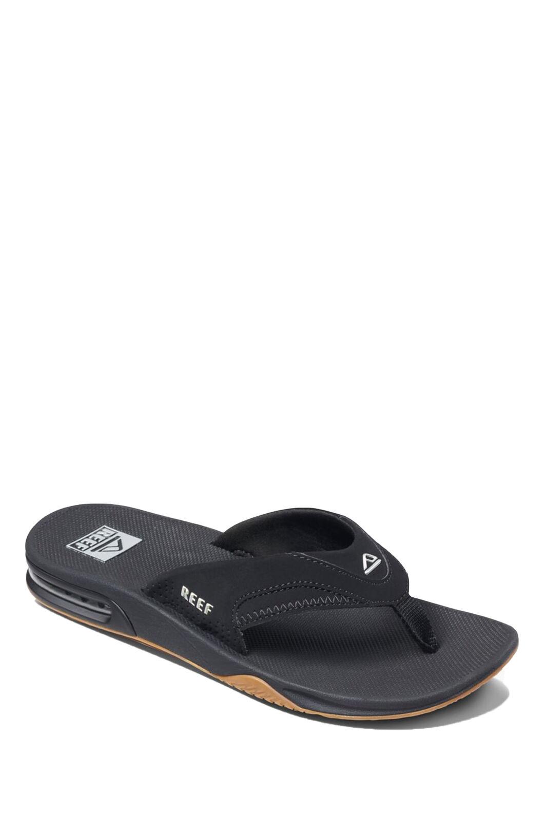 Reef Fanning Sandals — Men's, Black Silver, hi-res