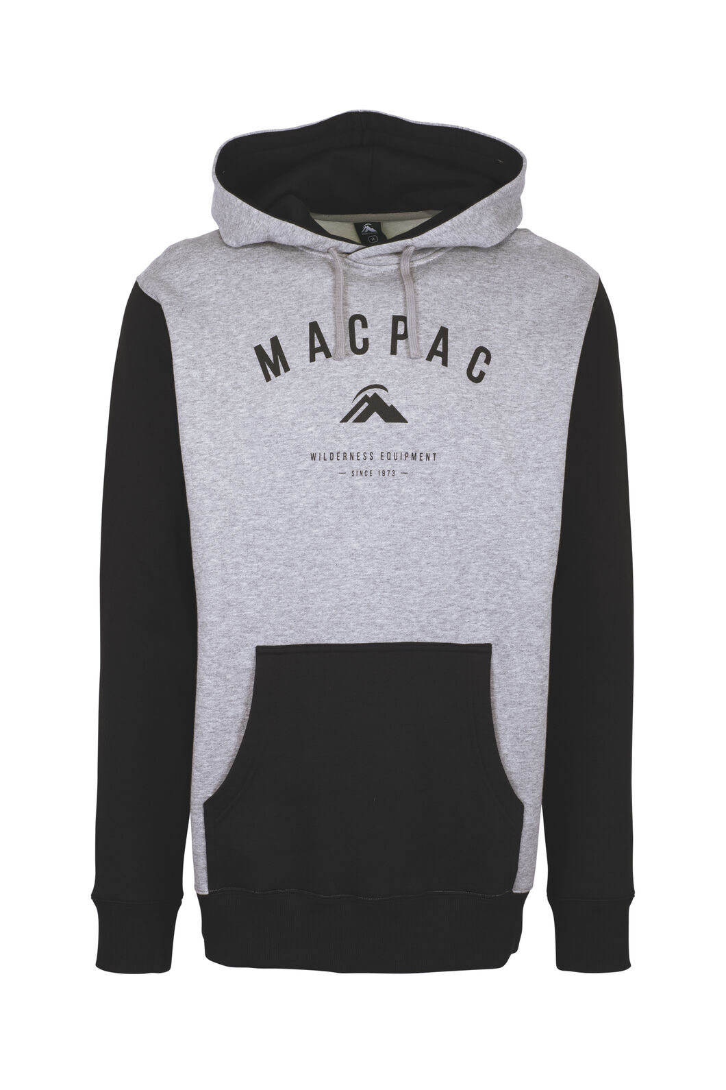 Macpac Organic Cotton Hoody — Men's, Grey Marle, hi-res