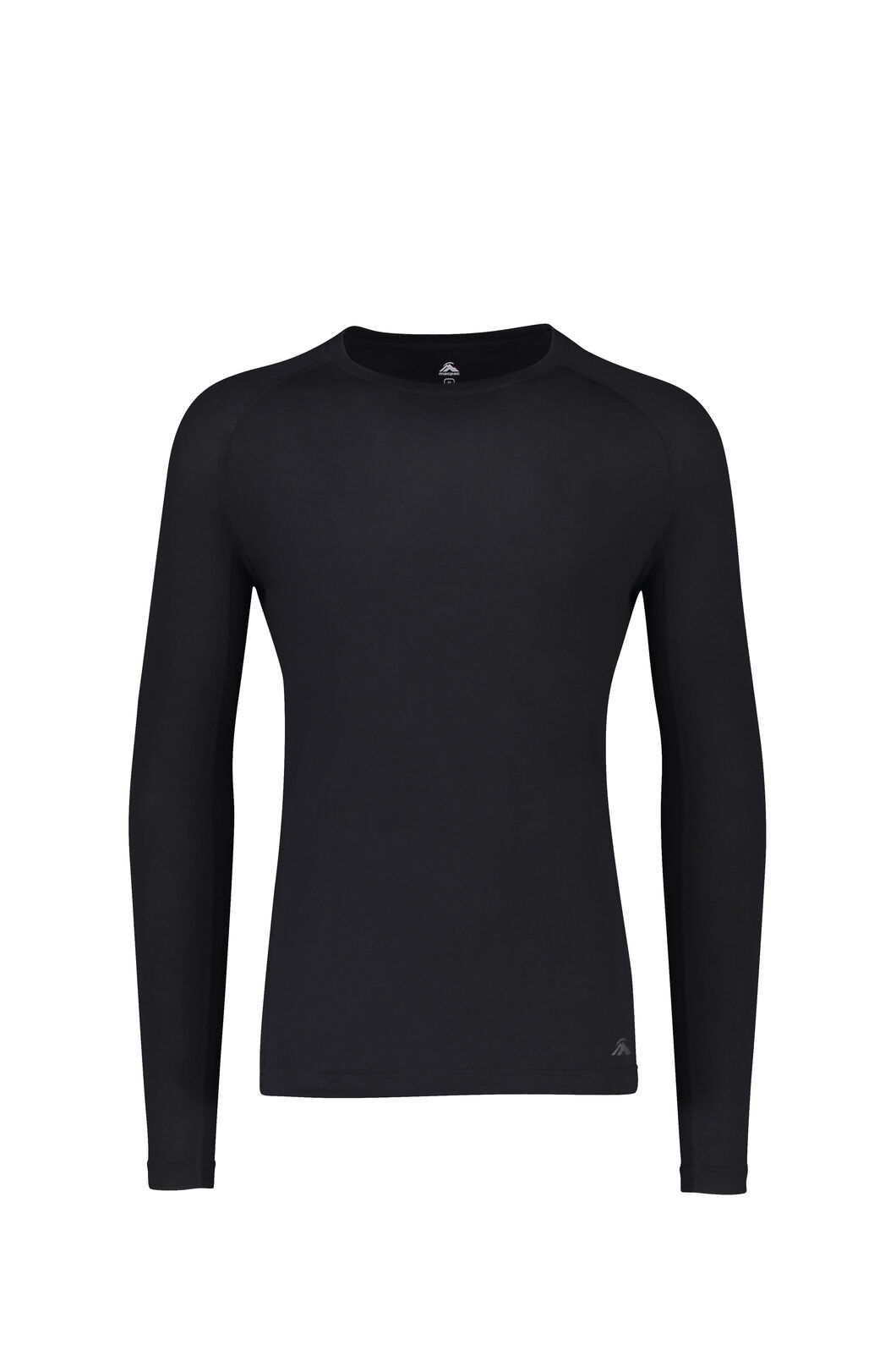 Macpac 150 Merino Long Sleeve Top — Men's, Black, hi-res