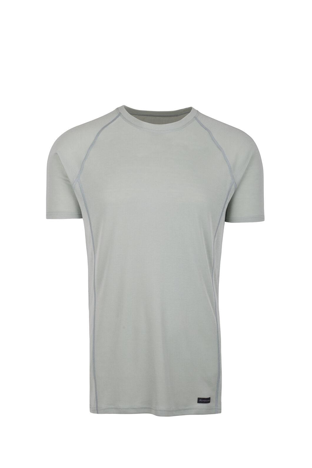 Macpac Geothermal Short Sleeve Top - Men's, Aqua Gray, hi-res