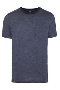 Macpac Merino Blend Travel Tee — Men's, Black Iris Stripe, hi-res