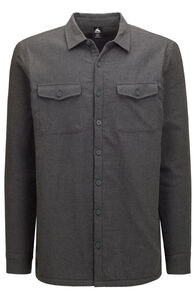 Macpac Men's Lyndon Polartec® Fleece Lined Shirt, Asphalt Marle, hi-res