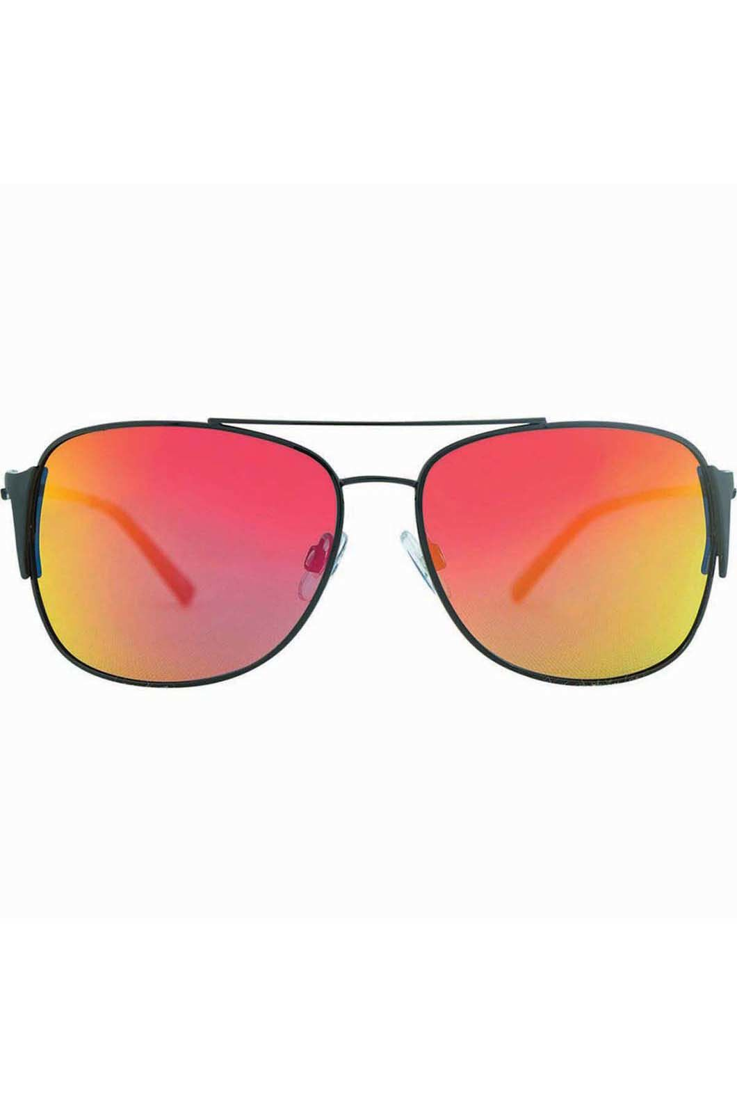 Venture Eyewear Men's Maverick Sunglasses, Black/Red, hi-res