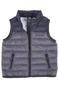 Macpac Mini Astro Down Vest - Baby, Asphalt, hi-res