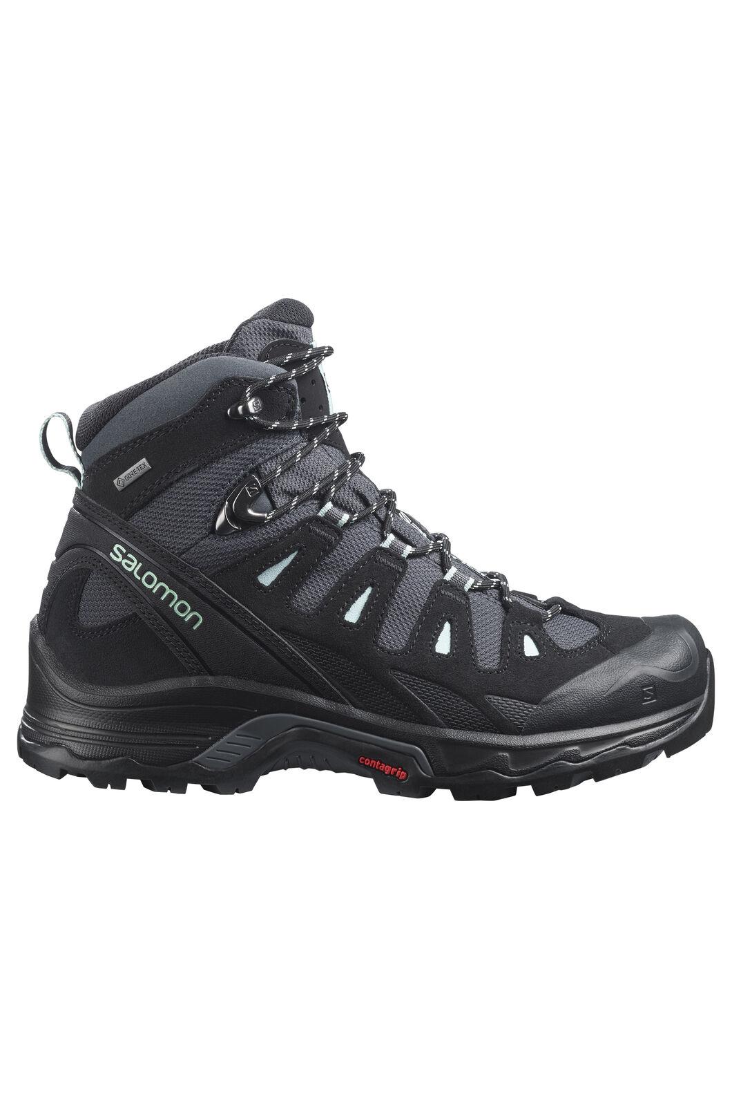 Salomon Women's Quest Prime GTX Mid Hiking Boots, Ebony/Black/Icy Morn, hi-res
