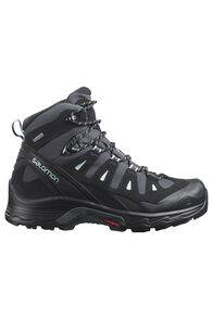 Salomon Quest Prime GTX Mid Boots — Women's, Ebony/Black/Icy Morn, hi-res