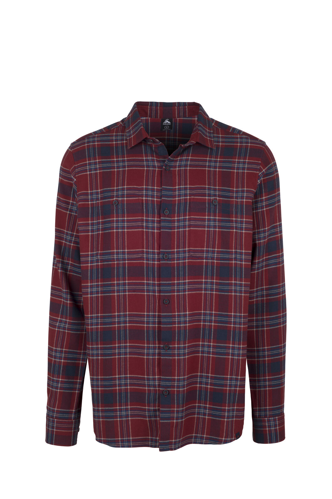 Macpac Porters Flannel Shirt - Men's, Syrah/Red Ochre, hi-res