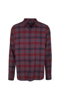 Macpac Porters Flannel Shirt - Men's, Syrah/Red Ochre, hi-res