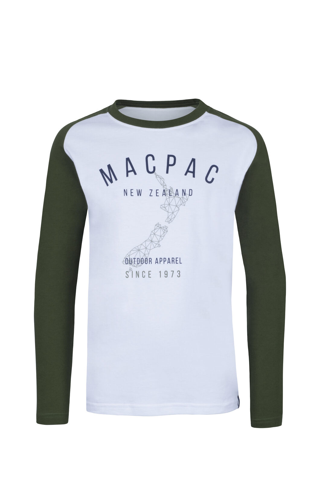 Macpac Outdoor Fairtrade Organic Cotton Long Sleeve Tee — Kids', White, hi-res
