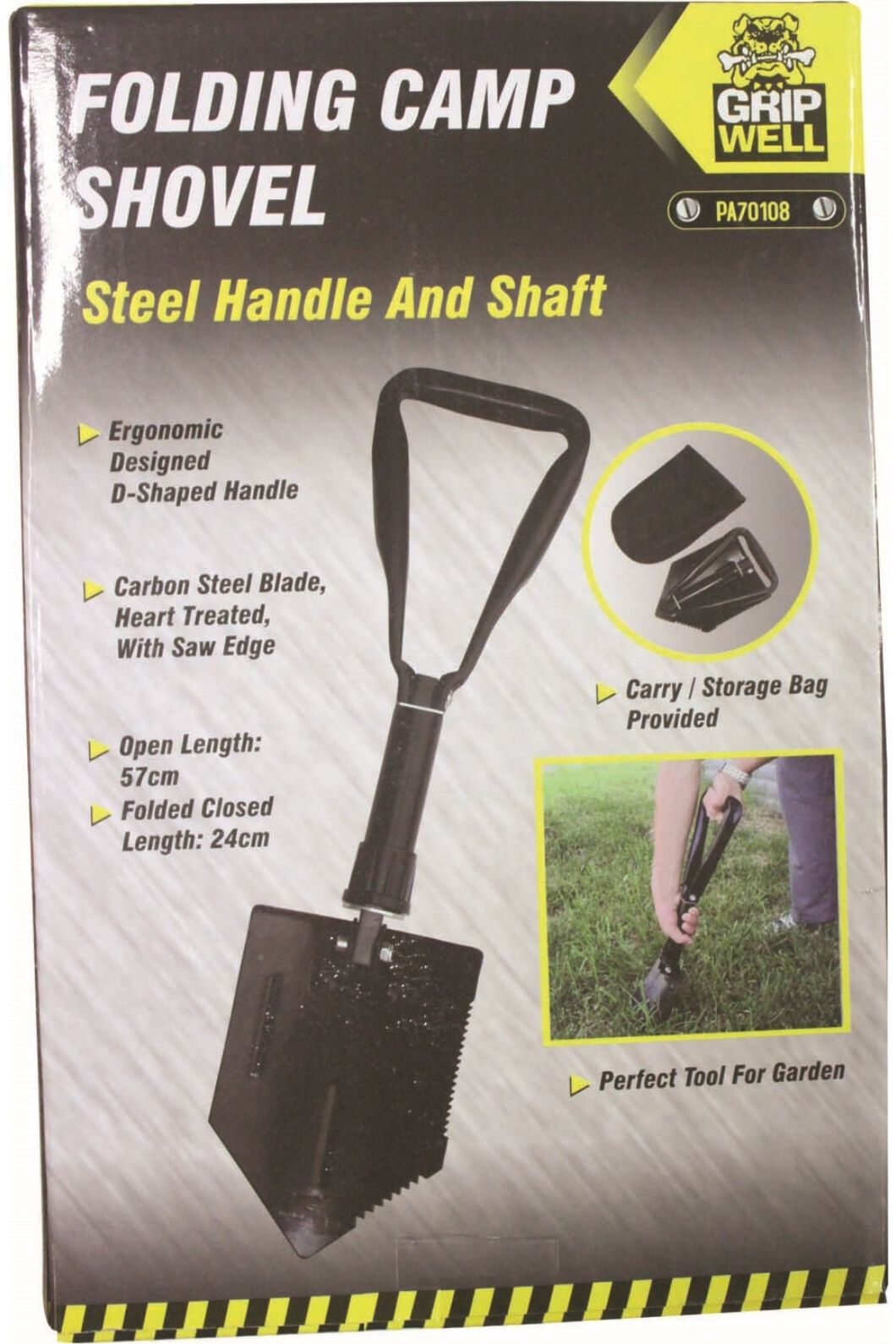Gripwell Folding Shovel, None, hi-res