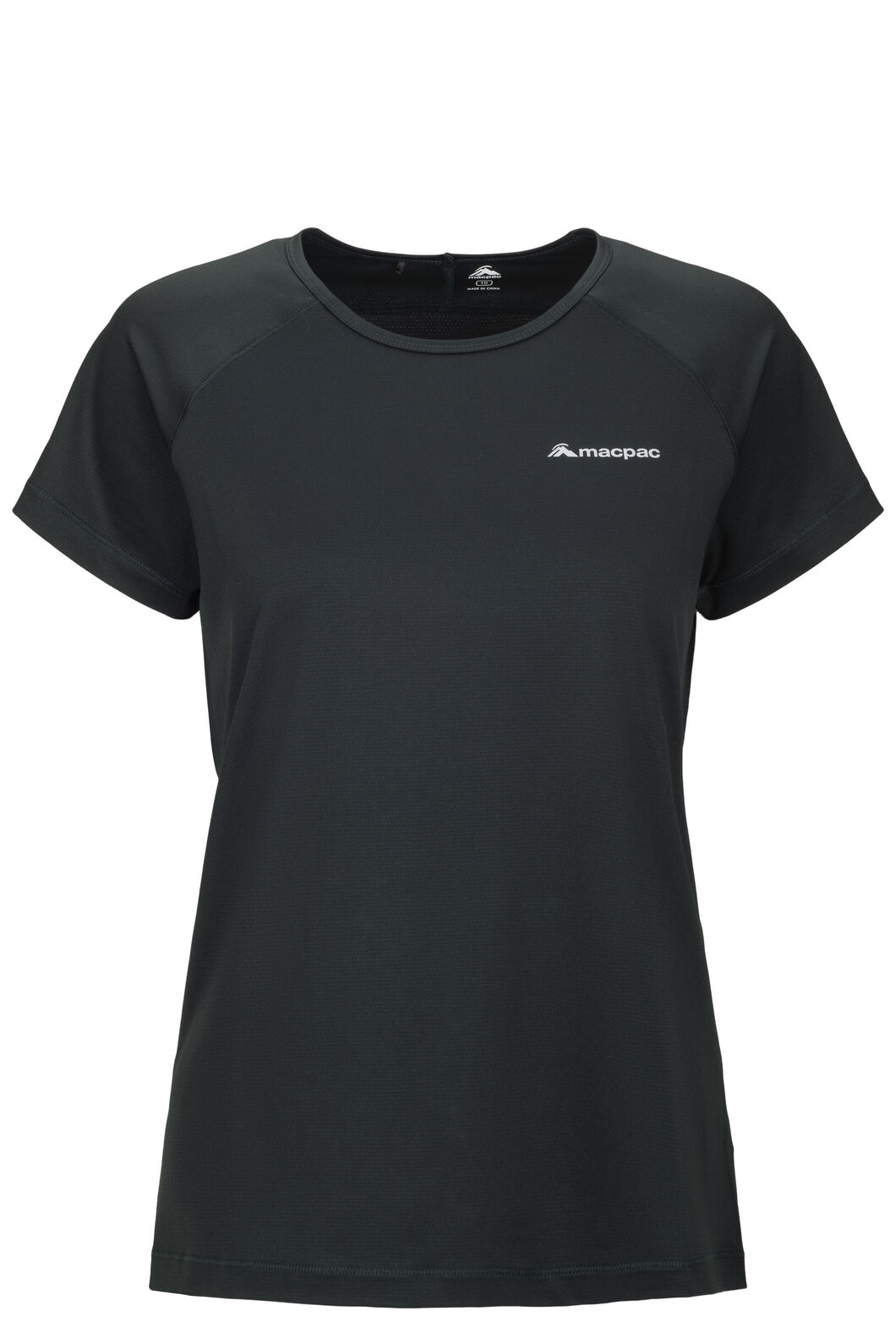 Macpac Eyre Short Sleeve Tee — Women's, True Black, hi-res