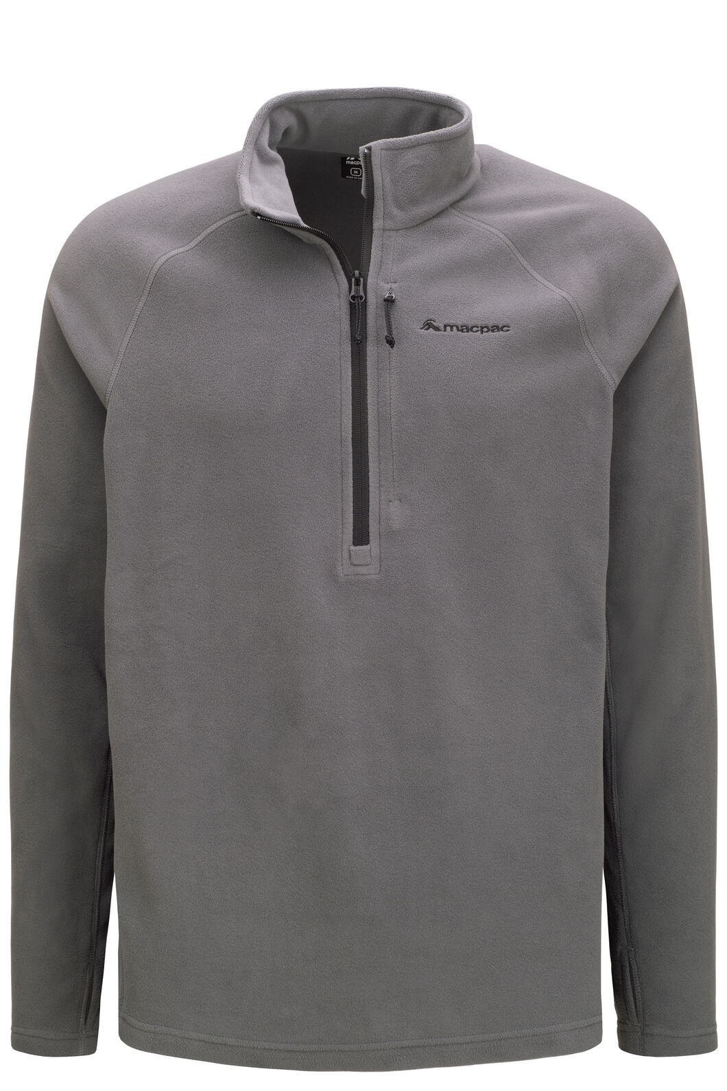 Macpac Men's Tui Polartec® Micro Fleece® Pullover, Iron Gate/Black, hi-res