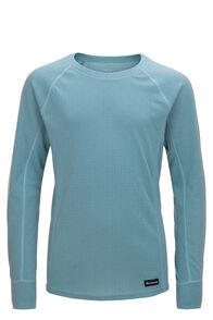 Macpac Geothermal Long Sleeve Top — Kids', Marine Blue Print, hi-res