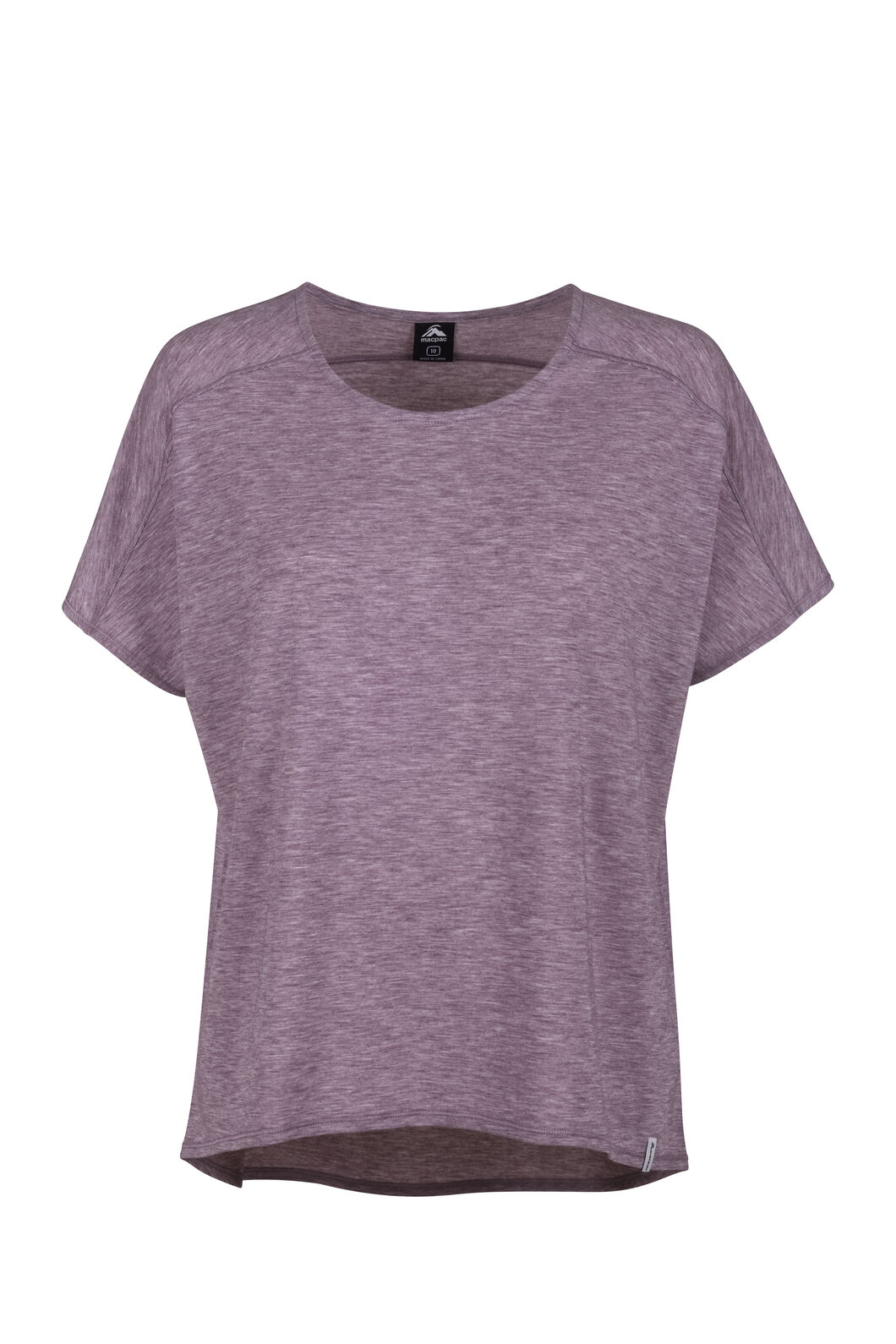 Macpac Eva Short Sleeve Tee - Women's, Fudge, hi-res