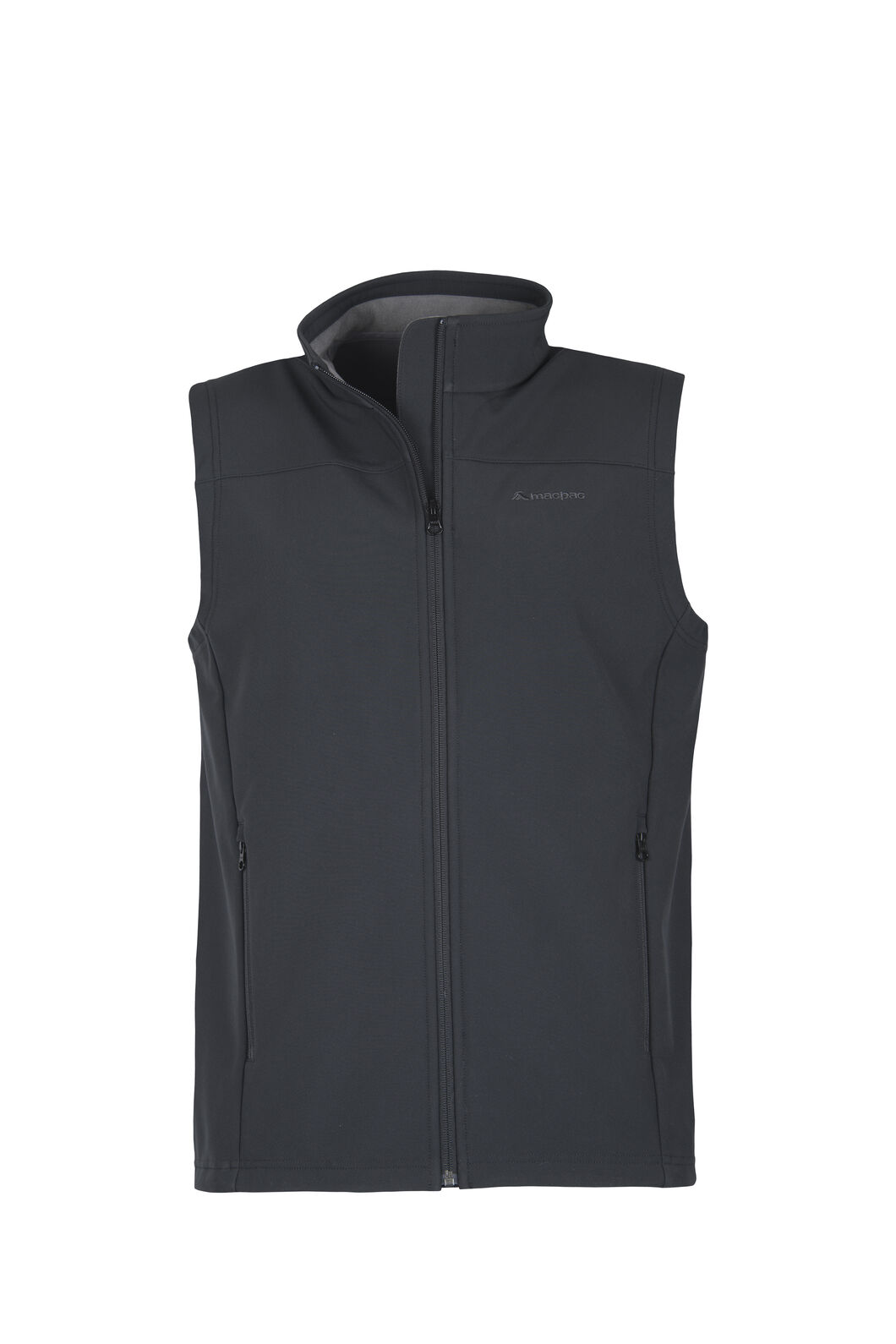 Macpac Sabre Softshell Vest — Men's, Black, hi-res