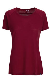 Macpac Meadow 145 Merino Blend Short Sleeve Tee — Women's, Tibetan Red, hi-res