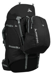 Macpac Genesis AzTec® 85L Travel Pack, Black, hi-res