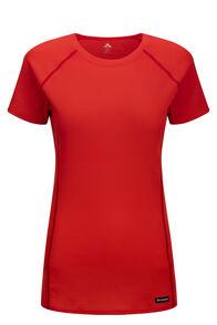 Macpac Geothermal Short Sleeve Tee — Women's, TOMATO, hi-res