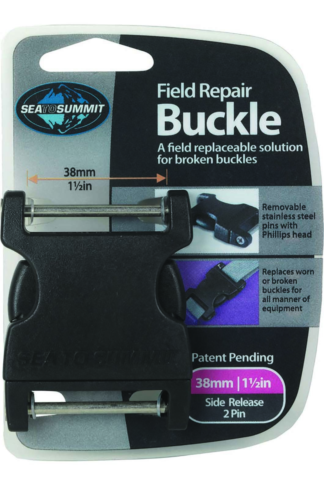 Sea to Summit Field Repair Buckle 38mm Side Release 2 Pin, None, hi-res