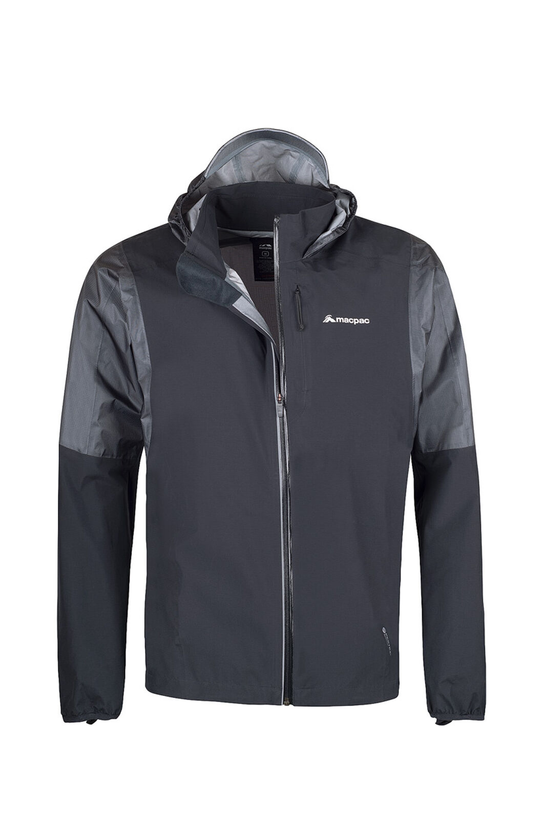 Macpac Transition Pertex® Rain Jacket - Men's, Black, hi-res
