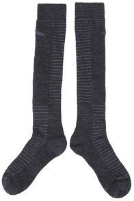 Merino Ski Socks, Charcoal Marle, hi-res