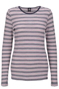 Macpac 220 Merino Long Sleeve Top — Women's, Cradle Pink Stripe, hi-res