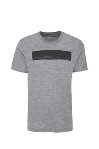 Macpac City Merino 180 Tee — Men's, Grey Marle, hi-res