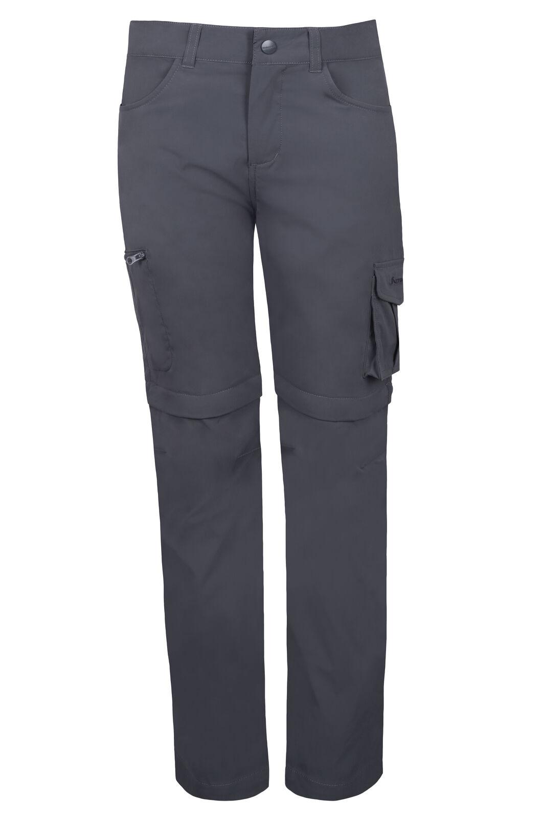 Macpac Rockover Convertible Pants - Kids', Forged Iron, hi-res