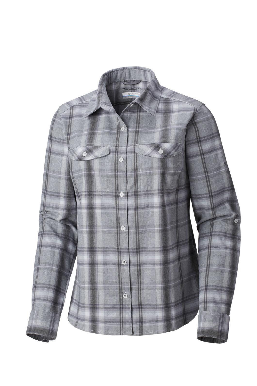 Columbia Silver Ridge Long Sleeve Flannel - Women's, Cirrus Grey, hi-res