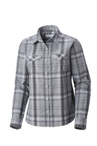 Columbia Silver Ridge Long Sleeve Flannel - Women's, Cirrus Grey, hi-res