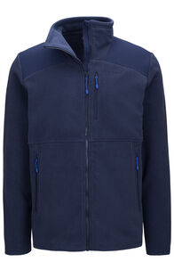 Macpac Dunstan Fleece Jacket — Men's (V2), Black Iris, hi-res