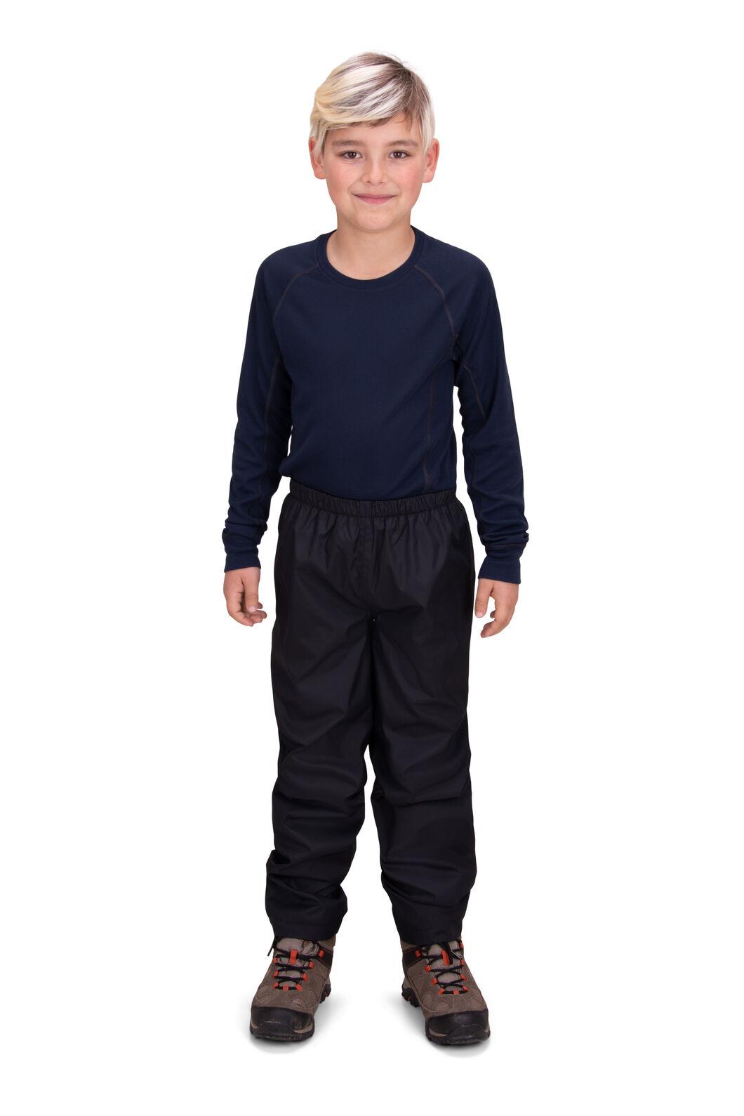 Macpac Kids' Jetstream Rain Pants, Black, hi-res