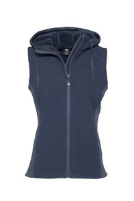 Macpac Mountain Hooded Vest — Women's, Black Iris, hi-res