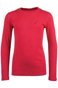 Macpac 220 Merino Long Sleeve Top — Kids', Teaberry, hi-res