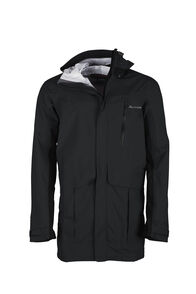 Macpac Copland Long Rain Jacket — Men's, Black, hi-res