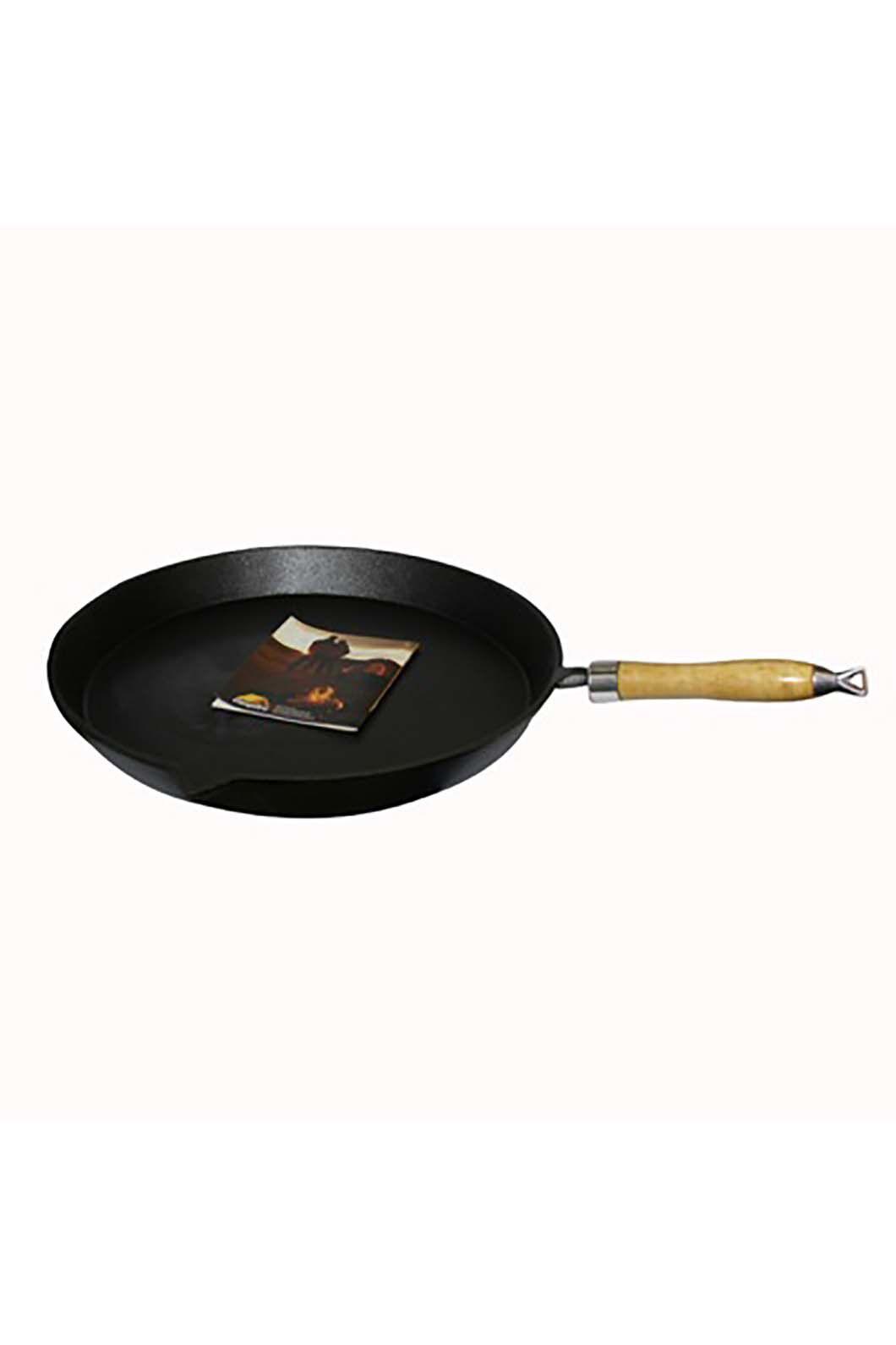 Pioneer 30cm Pre Seasoned Round Fry Pan, None, hi-res
