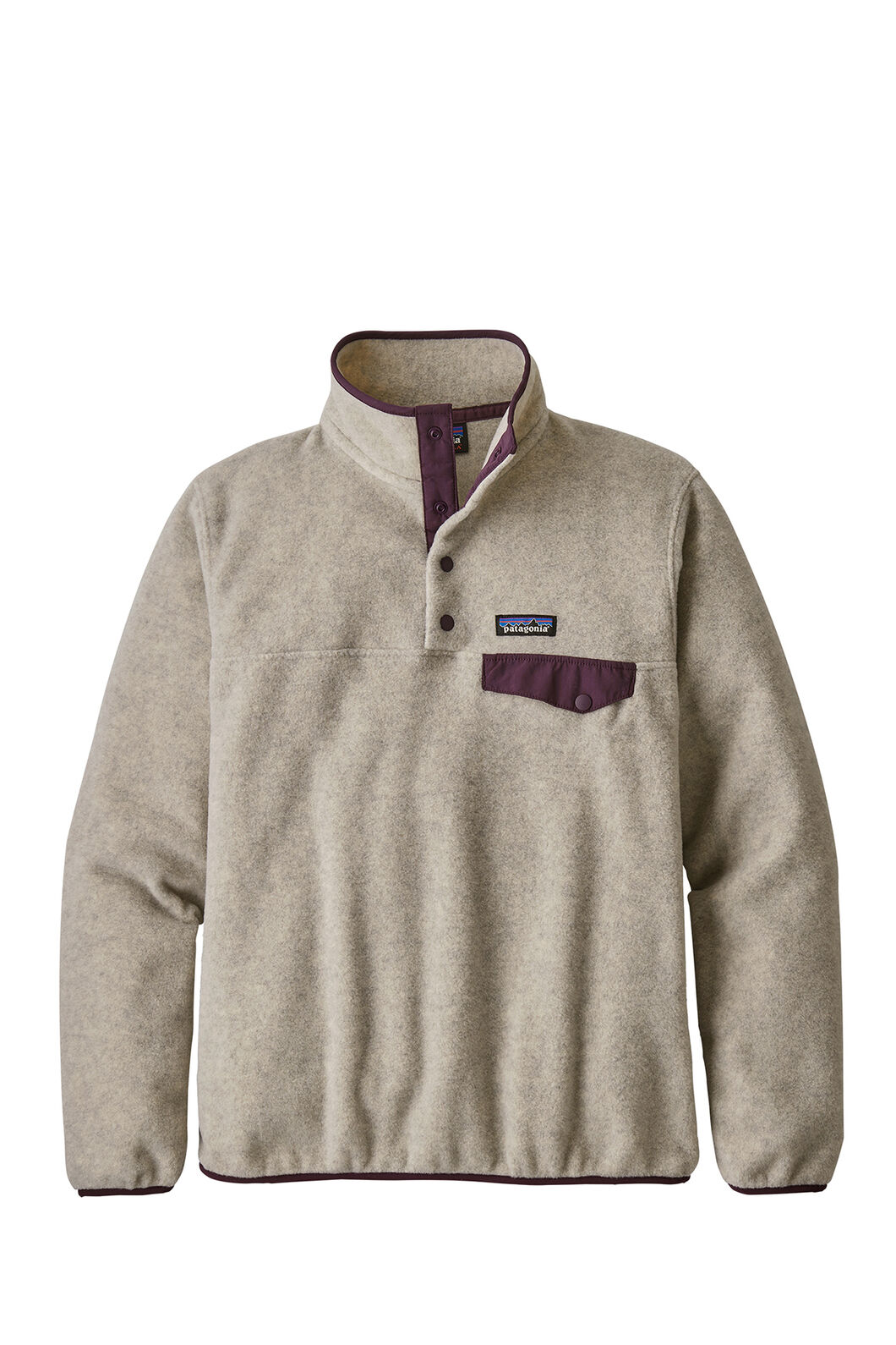 Patagonia LW Synchilla Snap T Pullover — Women's, Oatmeal Heather, hi-res
