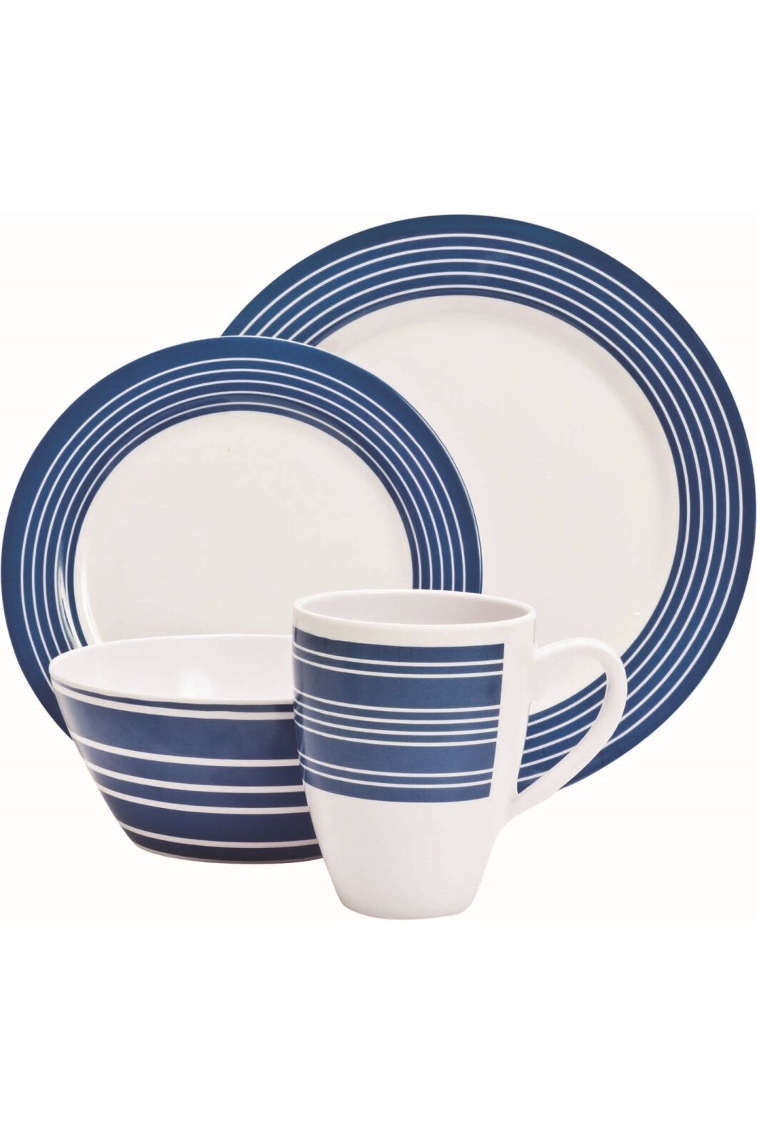 Prim6 Piece Melamine Nautical Set, None, hi-res