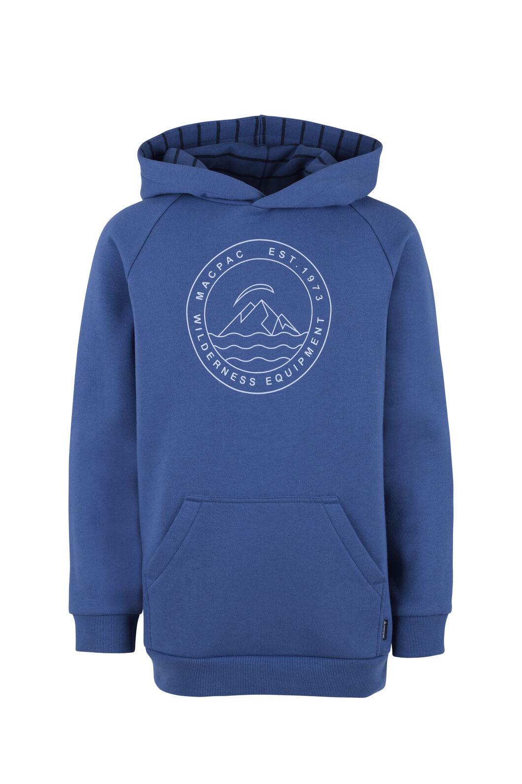 Macpac Organic Pullover Hoody - Kids', True Navy, hi-res