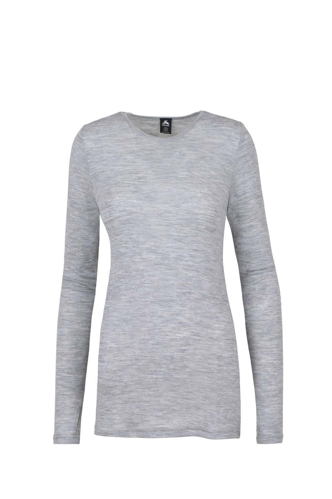 Macpac 220 Merino Top — Women's, Light Grey Marle, hi-res