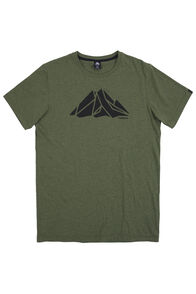 Screen Print Organic Cotton Tee - Men's, Rifle Melange, hi-res