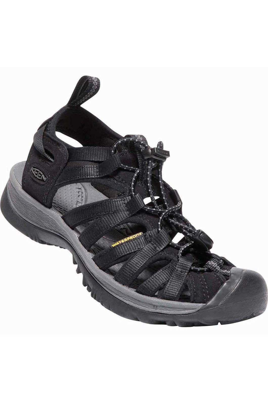 Keen Women's Whisper Sandals U, Black/Magnet, hi-res