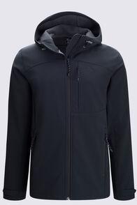 Macpac Men's Sabre Hooded Softshell Jacket, Black, hi-res
