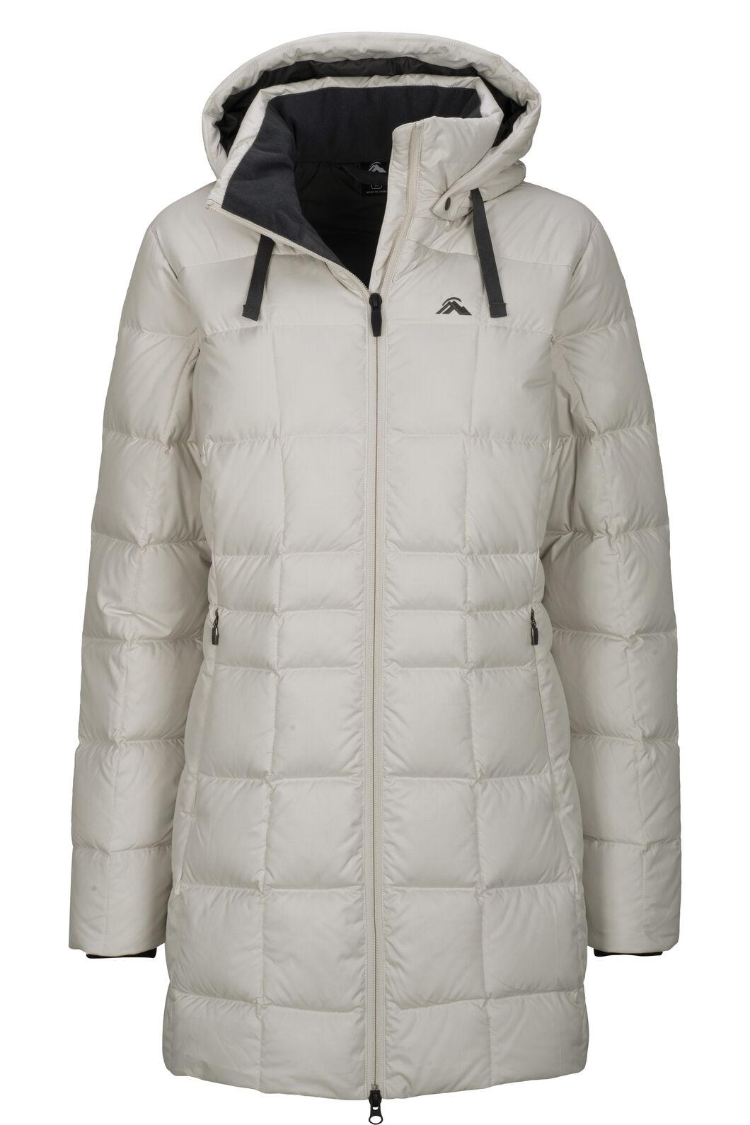 Macpac Women's Aurora Hooded Down Coat ♺, Moonbeam, hi-res