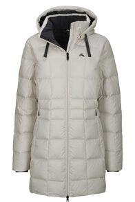 Macpac Aurora Hooded Down Coat — Women's, Moonbeam, hi-res