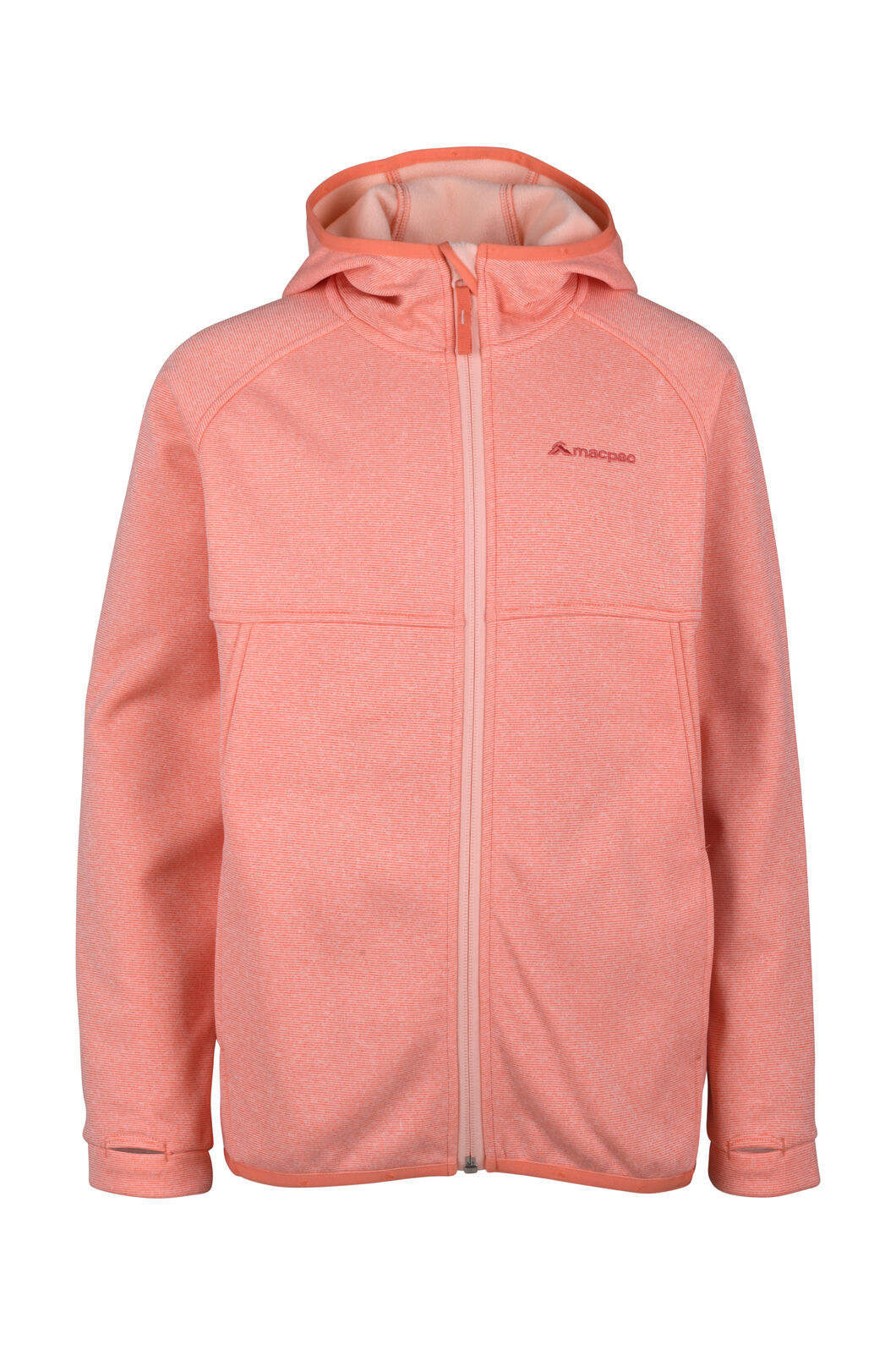 Macpac Kiwi Fleece Jacket - Kids', Fusion Coral, hi-res